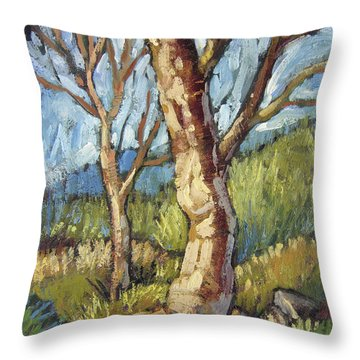 Trees In Spring Throw Pillow