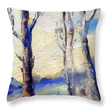 Trees In Winter Throw Pillow