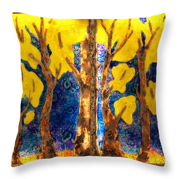 Trees Inside A Window Throw Pillow