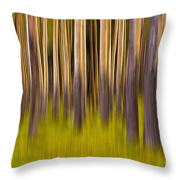 Throw Pillow featuring the digital art Trees by Jerry Fornarotto