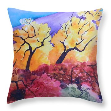 Trees Of Ghost Ranch Throw Pillow
