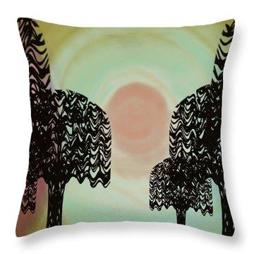 Trees Of Light Throw Pillow