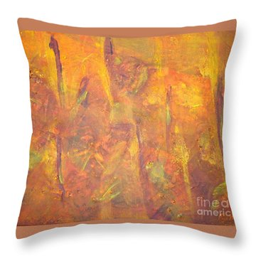 Trees Of The Field Throw Pillow by Olivia  M Dickerson