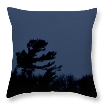 Throw Pillow featuring the photograph Trees On The Hill 2  by Lyle Crump