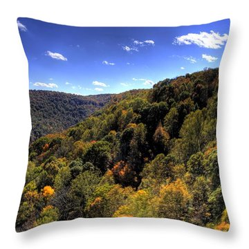 Trees Over Rolling Hills Throw Pillow