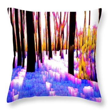 Throw Pillow featuring the digital art Treesn7  by Lyle Crump