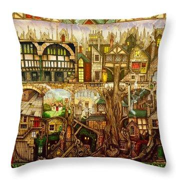 Treetown Throw Pillow