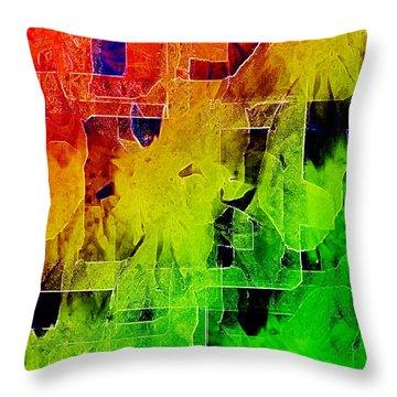 Trellis Throw Pillow by Paula Ayers