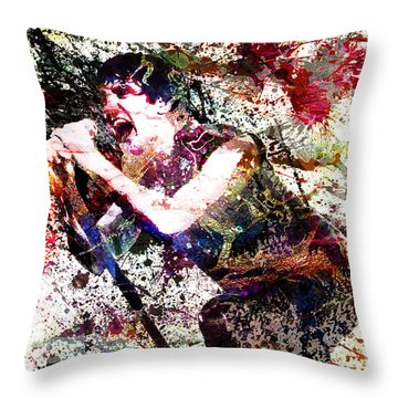 Trent Reznor Artwork Throw Pillow