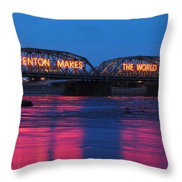 Trenton Makes Throw Pillow