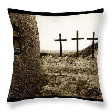 Tres Cruces New Mexico Throw Pillow