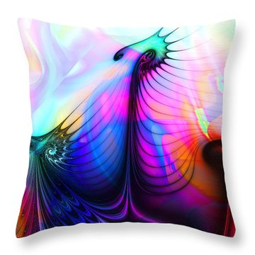 Tres Lunatics Throw Pillow