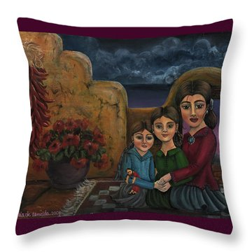 Tres Mujeres Three Women Throw Pillow