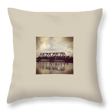 Trestle On The Pamlico River Throw Pillow