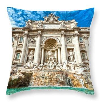 Trevi Fountain - Rome Throw Pillow