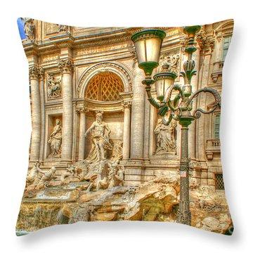Trevi Fountain In Rome Throw Pillow