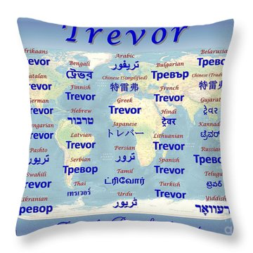 Trevor Throw Pillow by J McCombie