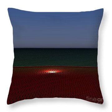 Tri Abstract Throw Pillow by Peter R Nicholls