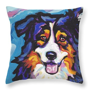 Tri Aussie Throw Pillow