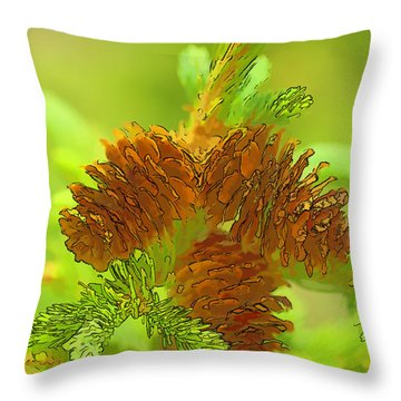 Tri Cones Throw Pillow