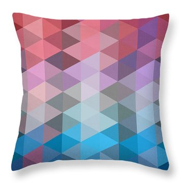Triangles Throw Pillow by Mark Ashkenazi
