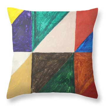 Triangles Throw Pillow by Stormm Bradshaw
