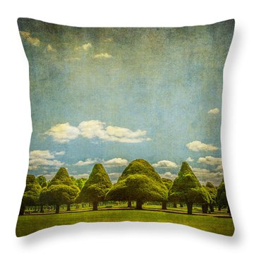 Triangular Trees 003 Throw Pillow