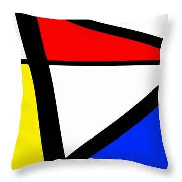 Triangularism I Throw Pillow