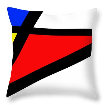 Triangularism II Throw Pillow