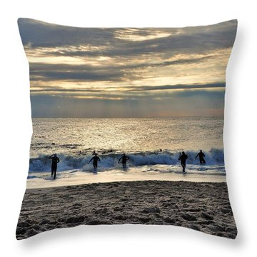 Triathalon Throw Pillow