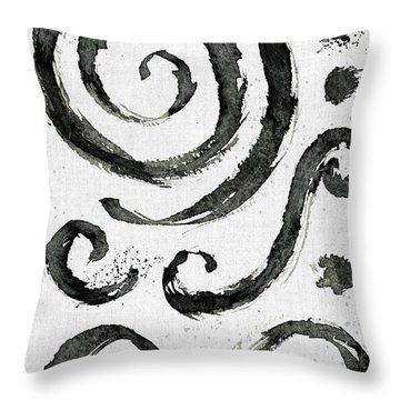 Tribal Swirls II Throw Pillow