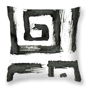 Tribal Swirls IIi Throw Pillow