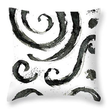 Tribal Swirls Iv Throw Pillow