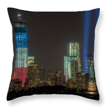 Tribute In Light Xiii Throw Pillow by Clarence Holmes