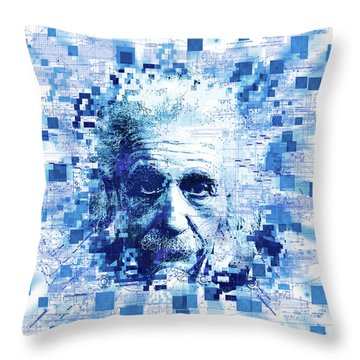 Tribute To Genius Throw Pillow by Bekim Art