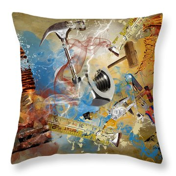 Tribute To Laborers Throw Pillow by Davina Washington