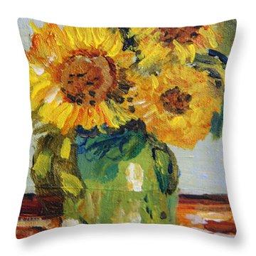 Tribute To Van Gogh Throw Pillow