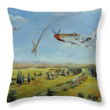 Tribute To Willy O'donnell Throw Pillow by Chris Brandley