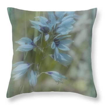 Throw Pillow featuring the photograph Tricia by Elaine Teague