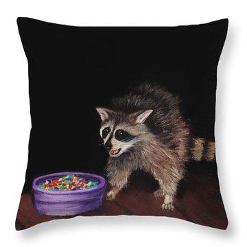 Trick-or-treat Throw Pillow by Anastasiya Malakhova