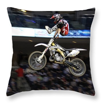 Trick Rider Throw Pillow by Karol Livote
