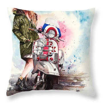 Tricked Out Throw Pillow