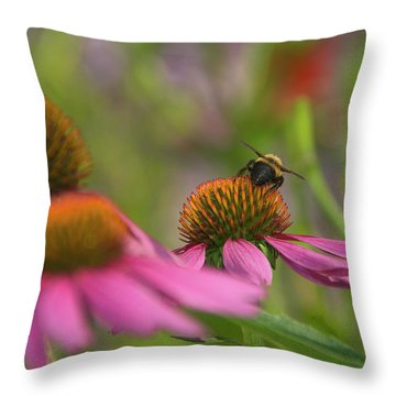 Tricky Terrain Throw Pillow by Arthur Fix