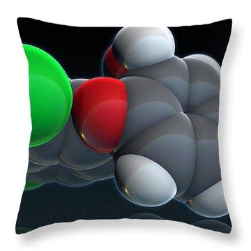 Triclosan Throw Pillow by Evan Oto