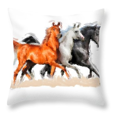 Throw Pillow featuring the painting Tricolor by Charlie Roman