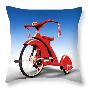 Trike Throw Pillow by Mike McGlothlen