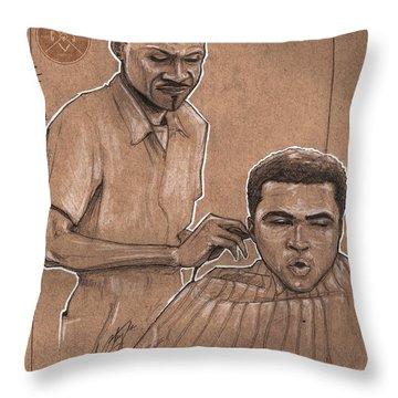 Trim The Lion Throw Pillow