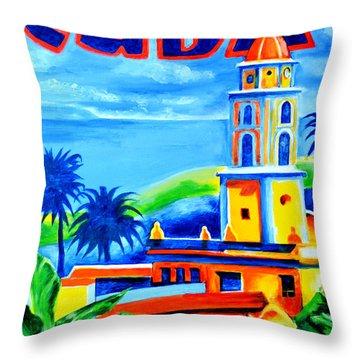 Trinidad Cuba Throw Pillow by Victor Minca