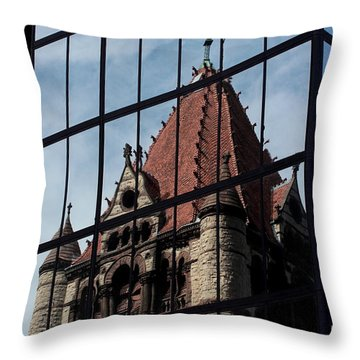 Trinity Chruch Reflected Throw Pillow by Kenny Glotfelty
