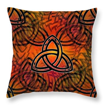 Trinity Throw Pillow by Glenn McCarthy Art and Photography